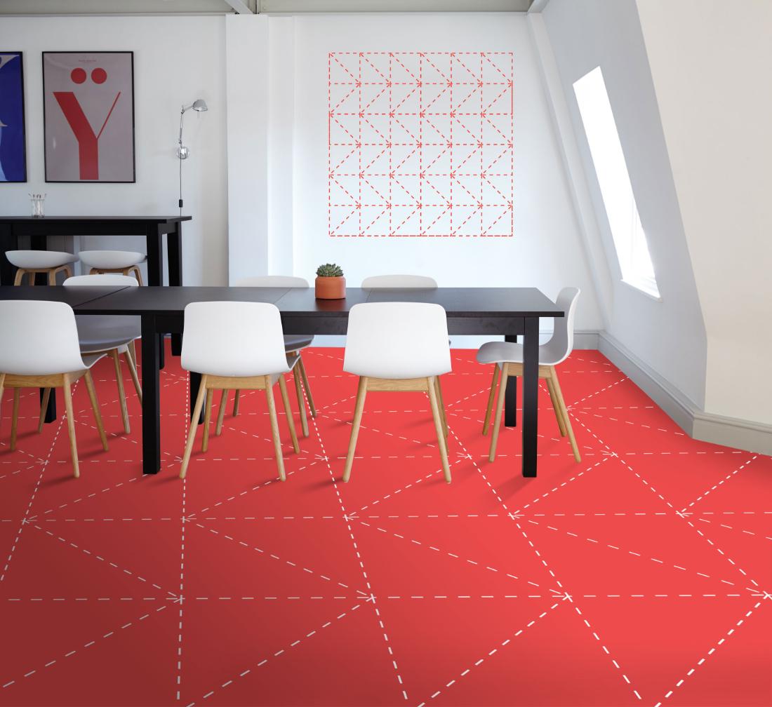 Koberec namieru, to sú kobercové štvorce - originálny dizajn - trojuholníky